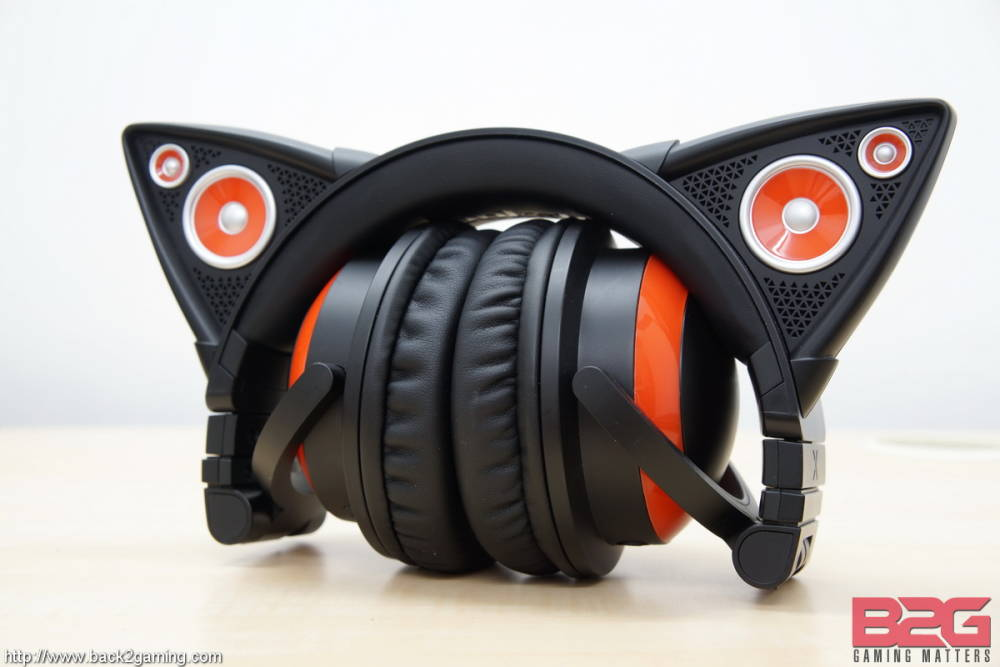 Cats ears pinned back