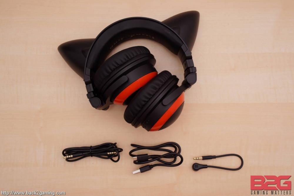 Axent Wear Cat Ear Headphones With Speakers Purple