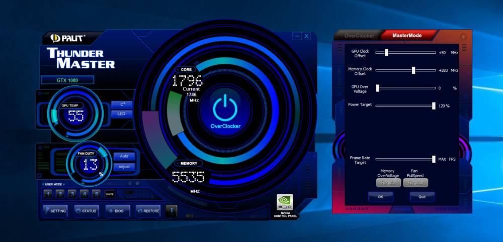 Palit GTX 1080 GameRock Premium Edition 8GB Graphics Card ...