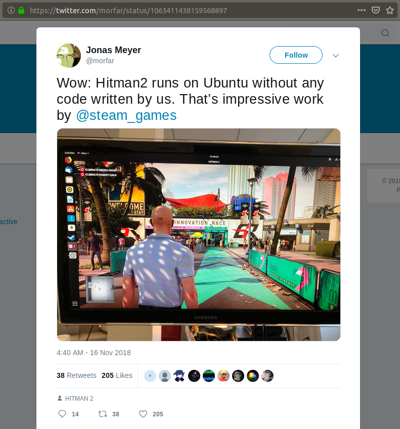 IO Interactive programmer confirms HITMAN 2 runs on Linux