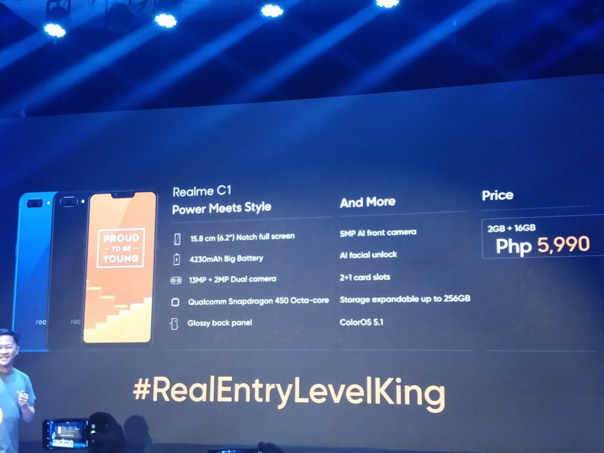 Realme Philippines Introduces C1 The Realentrylevelking